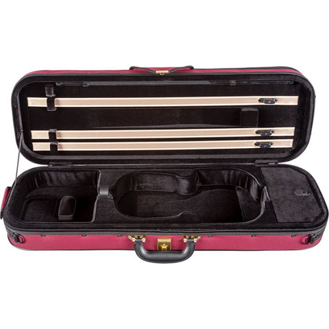 Superlight Oblong Burgandy Violin Case - Interior