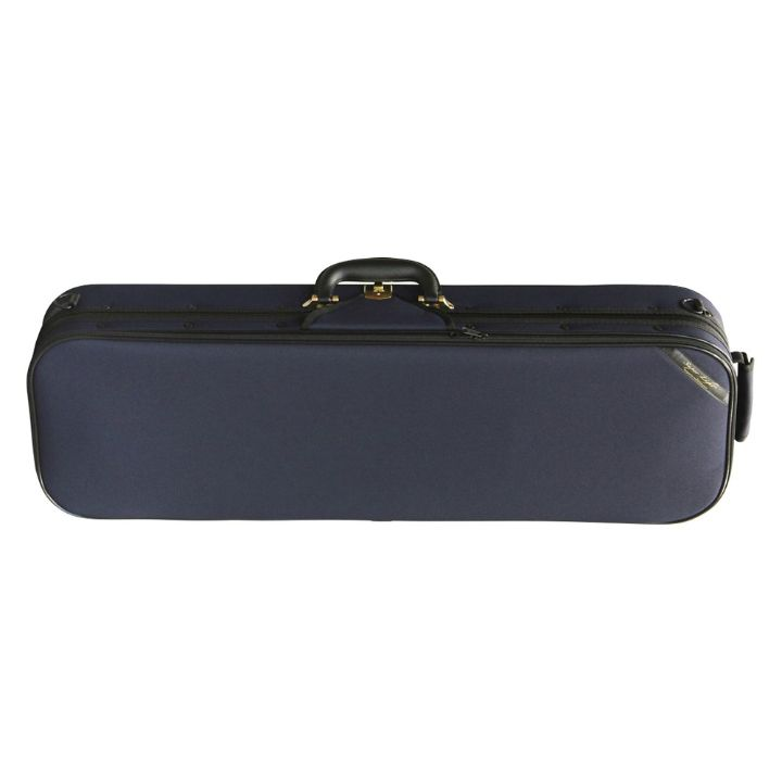 Superlight Oblong Dark Blue Violin Case - Front