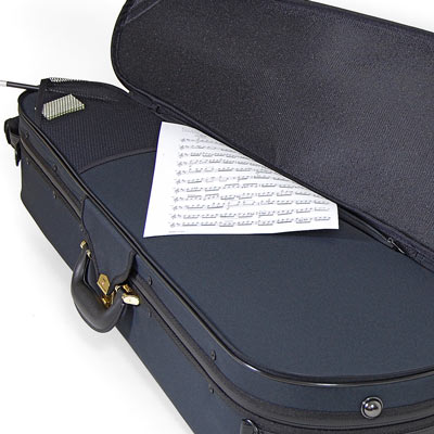 Image of Superlight Shaped Blue Viola Case - Music Pocket