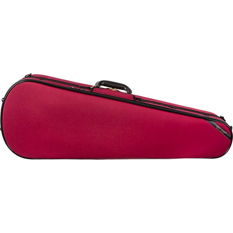 Image of Super Light Red Shaped Viola Case - Front