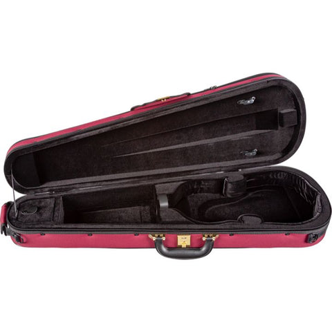 Superlight Shaped Red Violin Case- Interior
