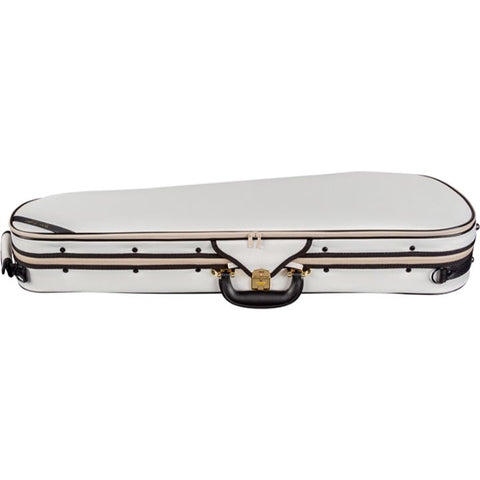 Superlight Shaped White Violin Case - Side