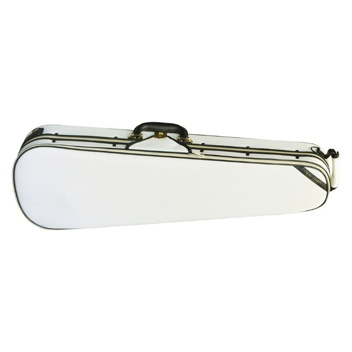 Superlight Shaped White Violin Case - Front