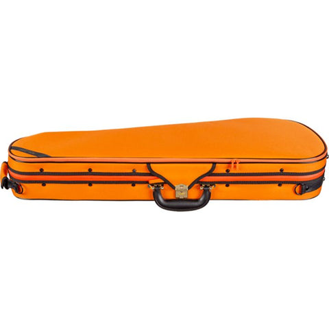 Super Light Shaped Orange Violin Case - Side