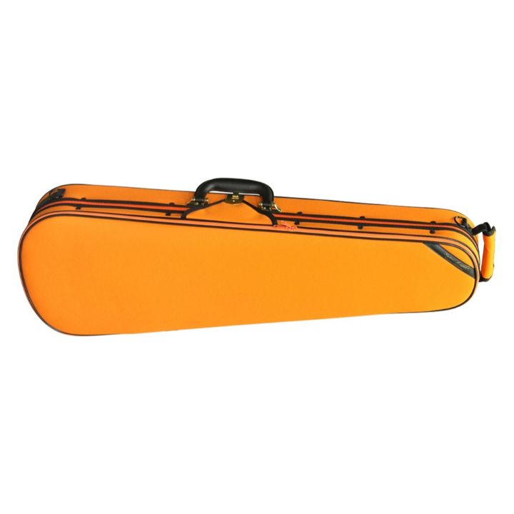 Super Light Shaped Orange Violin Case - Front