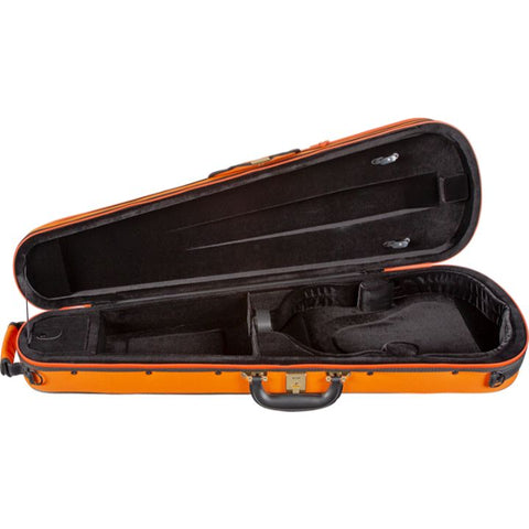 Super Light Shaped Orange Violin Case - Interior