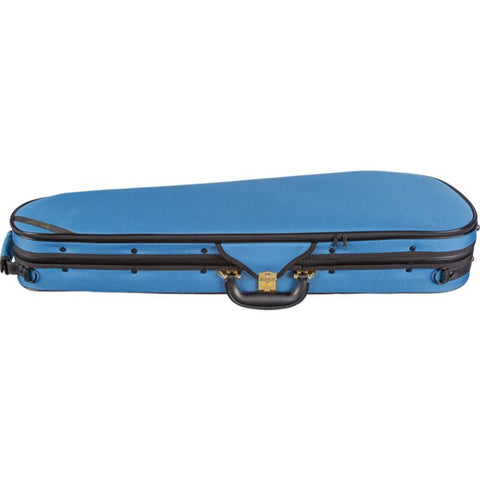 Super Light Shaped Blue Violin Case - Side