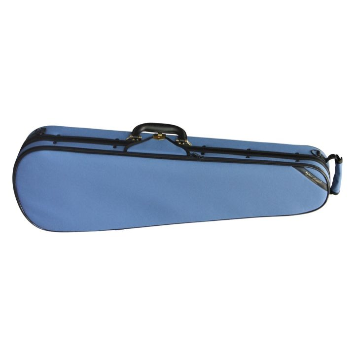 Super Light Shaped Blue Violin Case - Front