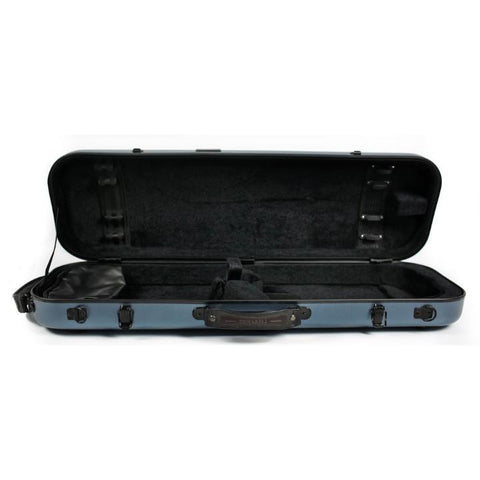 Image of Tonareli Composite Fiberglass Blue Steel  Violin Case