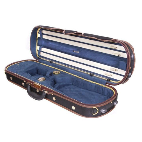 Tonareli Deluxe Violin Case - Blue Interior
