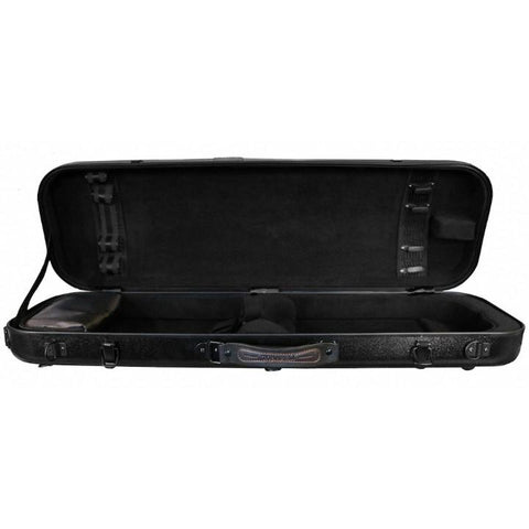 Tonareli Oblong Fiberglass Violin Case Black