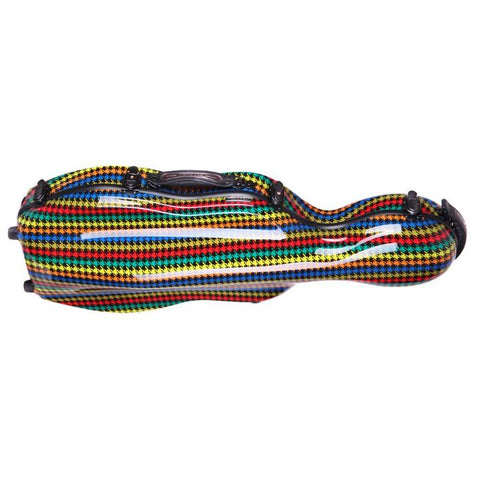 Image of colorful adjustable viola case