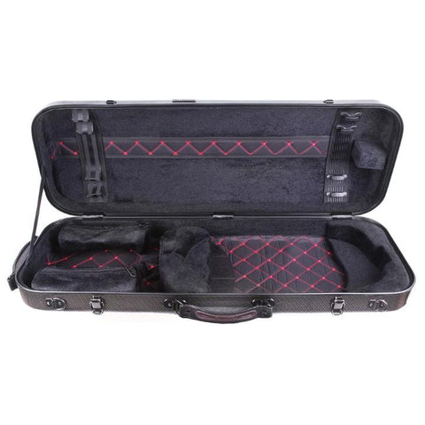 Tonareli Oblong Fiberglass Viola Case Checkered