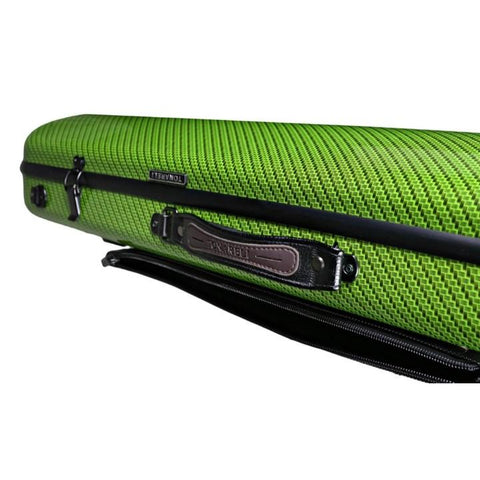 Tonareli Oblong Fiberglass Viola Case Green Checkered