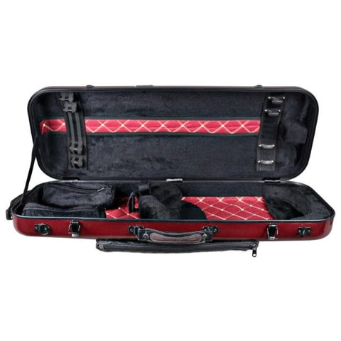 Image of Tonareli Oblong Fiberglass Viola Case Red Graphite