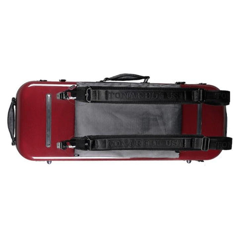 Image of red viola case
