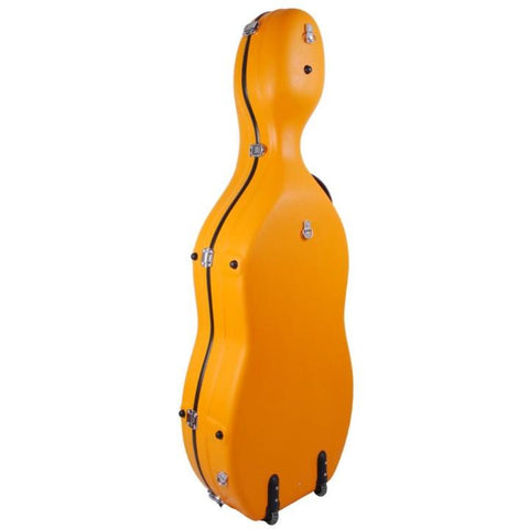 Image of orange full size cello case