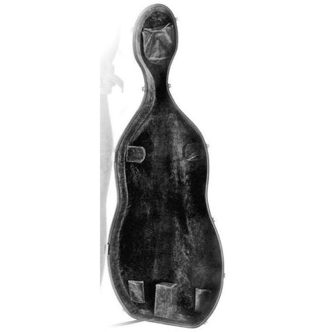 Image of red cello case