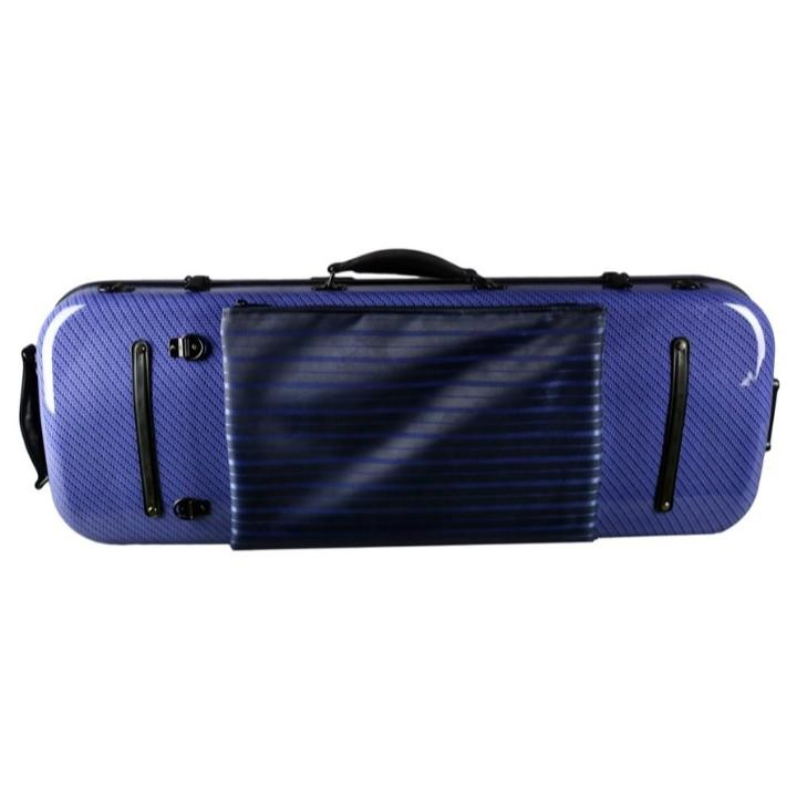 blue adjustable viola case