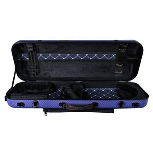 Tonareli Oblong Fiberglass Viola Case Blue Checkered