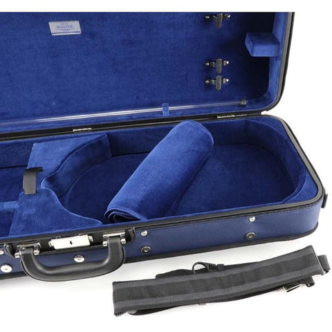 Jakob Winter Handmade Oblong Viola Case Blue