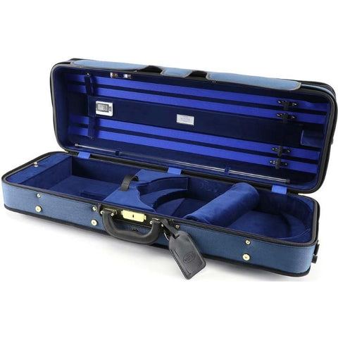 Handmade Exclusive Oblong Viola Case Blue/Blue Interior