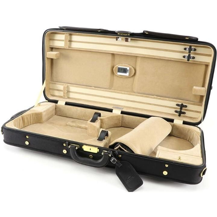 Viola Varo and Violin Case Black/Sand Interior
