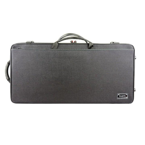 Image of black bam double violin and viola case