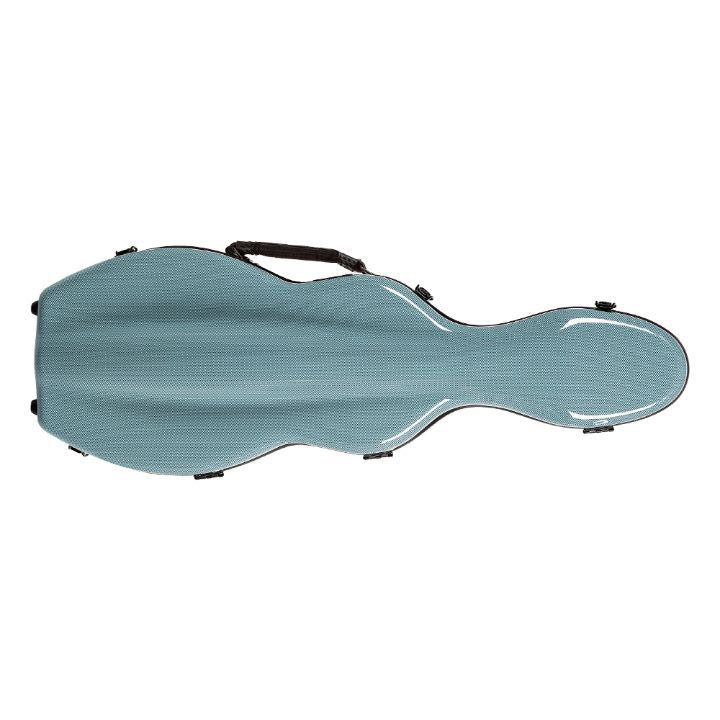 Fiberglass Violin Case Blue checkered