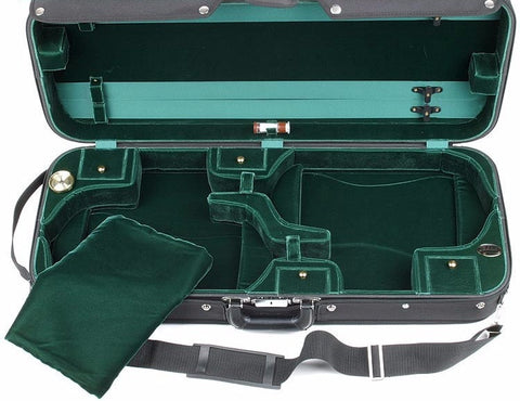 Image of Bobelock 1015 Green Velvet Double Violin Case