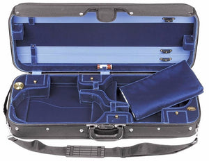 Bobelock 1015 Blue Velvet Double Violin Case