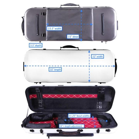 Image of Tonareli Oblong Fiberglass Viola Case Checkered