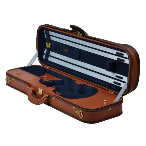 Image of Negri Diplomat Blue Oblong Violin Case - Interior