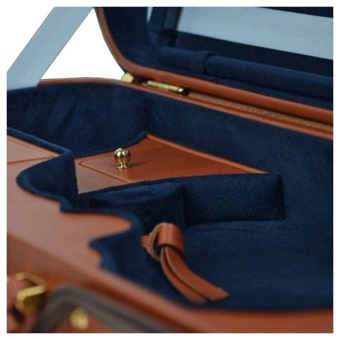 Image of Negri Diplomat Blue Oblong Violin Case - Velvet Interior