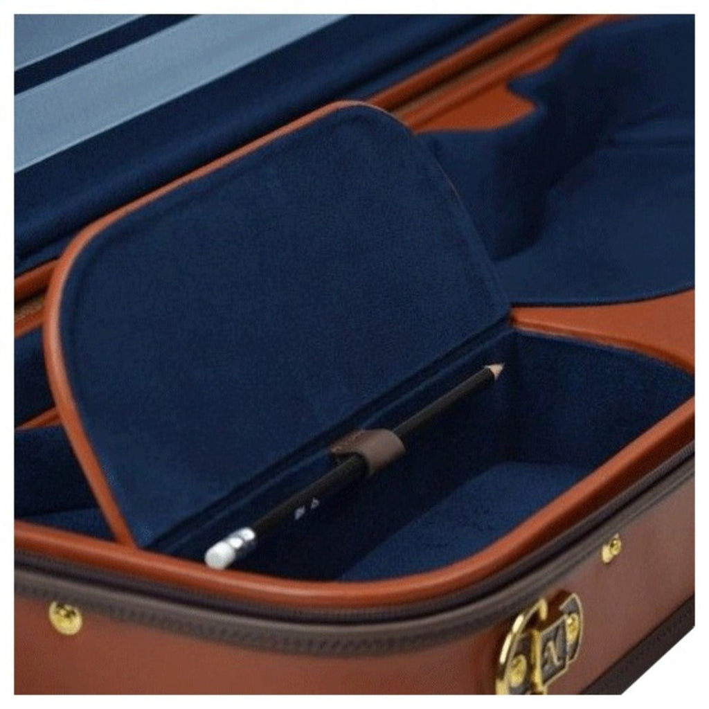 Negri Diplomat Blue Oblong Violin Case - Accessory Compartment