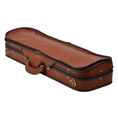 Negri Diplomat Blue Oblong Violin Case - Leather Cover