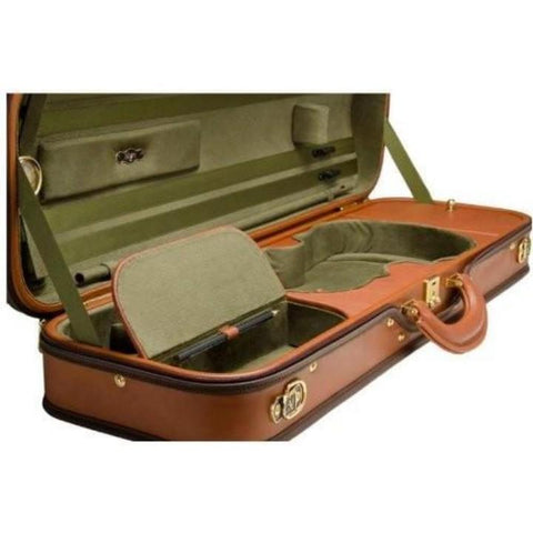 Negri Diplomat Olive Green Oblong Violin Case - Accessory Compartment