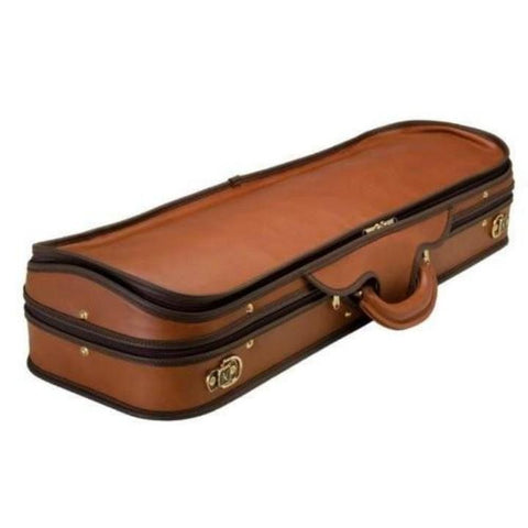 Image of Negri Diplomat Olive Green Oblong Violin Case - Exterior