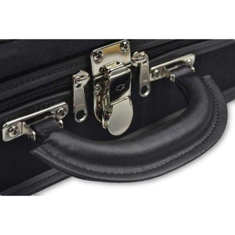 Image of Negri Venezia Olive Green Oblong Violin Case -Leather Handle