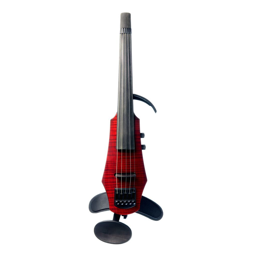 ns design 5 string electric violin red