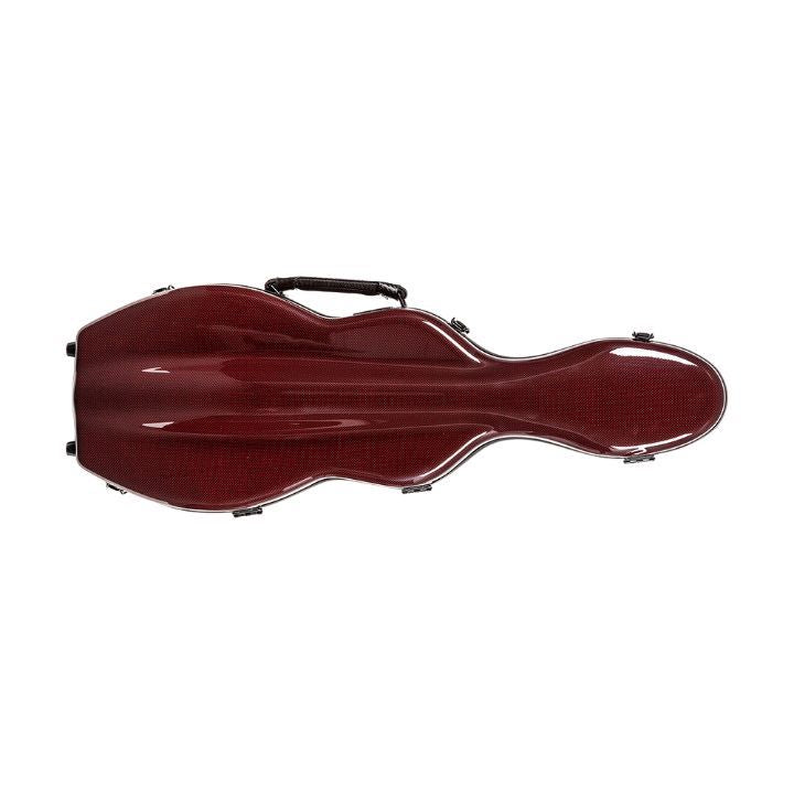 red shaped violin case