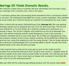 Moringa Oil Yields Dramatic Results