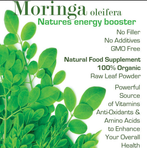 #1 Moringa Oleifera Leaf Powder Freeze Dried 100% Organically Grown 1-3 Month Supply