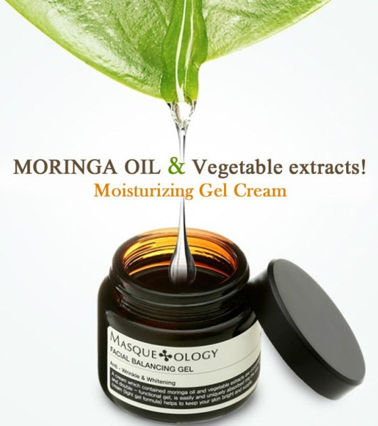 FACIAL BALANCING GEL CREAM Moringa Oil Anti-Wrinkle & Whitening & Moisturizing