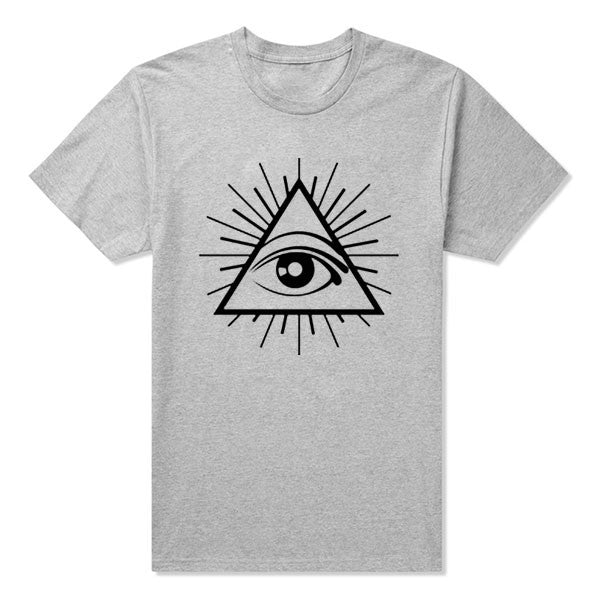 ALL SEEING EYE PRINTED MENS  ILLUMINATI CULT CROSS  SWAG TUMBLR TOP T Shirt Tee Shirt  don't trust anyone big european size
