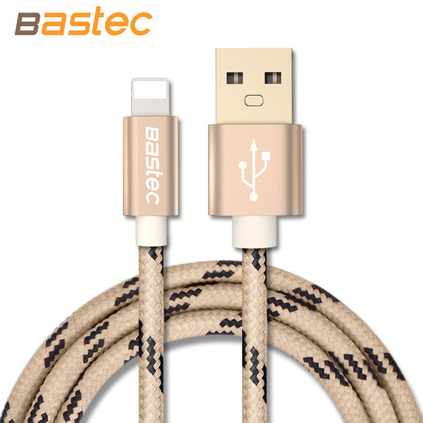 Bastec Newest 8 pin Metal Braided Wire Sync Data Charger USB Cable for iPhone 7 6s 6 plus 5 5s iPad mini 2 3 Air 2