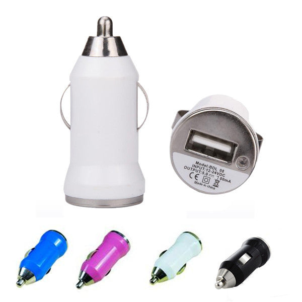 Mini Car USB Cigarette Lighter Chargers Adapter For iPhone Samsung