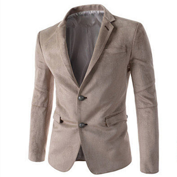 New Arrival Single Breasted Button Leisure Blazers Men Male 2015 Fashion Slim Fit Casual Suit Solid Blazer Dress Clothing