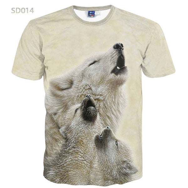 2016 Summer Fashion Abstract Animal 3D Print T-shirt for Women/Men Casual Short-sleeve O-neck Mens 3d t shirt Top Tees  S-XXL
