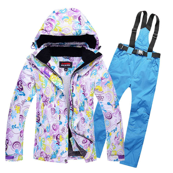 2017 High Quality ski suits women's jacket+pants,snowboard clothes,snowboard Sports Waterproof Windproof Breathable ski jackets